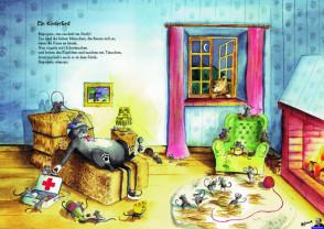 """Heinz Erhardt Poster """"Ein Kinderlied"""" zum Kinderbuch """"Warum die Zitronen sauer wurden"""""""