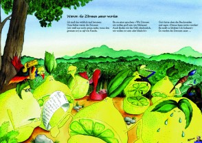 """Heinz Erhardt Poster """"Zitronen"""" zum Kinderbuch """"Warum die Zitronen sauer wurden"""""""